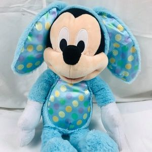 """Disney Store Mickey Mouse Easter Bunny Decor 18"""""""